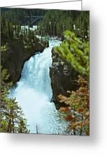 Yellowstone Falls Greeting Card
