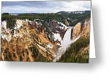 Yellowstone Falls Panorama Greeting Card