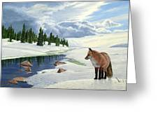 Yellowstone Fox Greeting Card