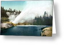 Yellowstone Geyser, C1905 Greeting Card