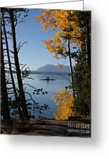 Yellowstone Lake At Dusk Greeting Card
