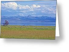 Yellowstone Lake In Yellowstone National Park-wyoming- Greeting Card
