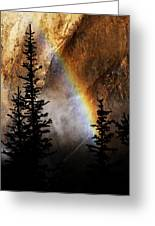 Yellowstone Rainbow Greeting Card