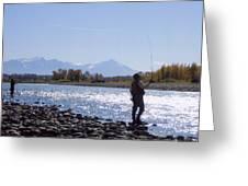 Yellowstone River Fly Fishing Greeting Card