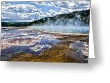 Yellowstone - Springs Greeting Card