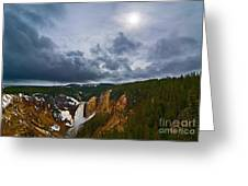 Yellowstone Storm Greeting Card