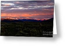 Yellowstone Sunset Greeting Card