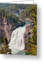 Yellowstone Upper Falls Greeting Card