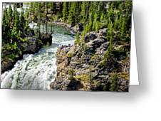 Yellowstone - Upper Falls Greeting Card