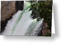 Yellowstone - Upper Falls Greeting Card