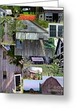 Yesterday Barns Collage Greeting Card