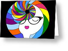 Yin Yang Crown 2 Greeting Card