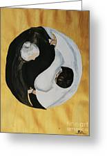 Yin Yang  Generations Hand In Hand Greeting Card