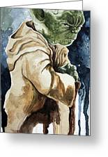 Yoda Greeting Card by David Kraig