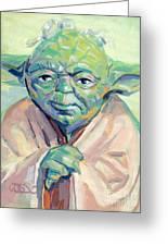 Yoda Greeting Card