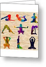 Yoga Poses Greeting Card