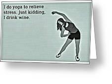 Yoga Wisdom Greeting Card