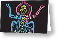Yogazi Greeting Card