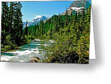 Yoho River In Yoho Np-bc Greeting Card