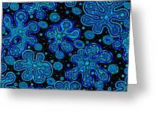 Yorbis Blue Greeting Card