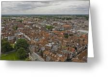 York From York Minster Tower II Greeting Card