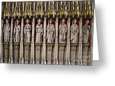 York Minster Statues 6100 Greeting Card