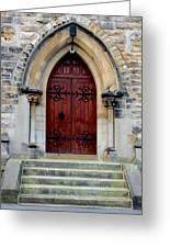 Yorkshire Church Door Greeting Card