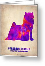 Yorkshire Terrier Poster Greeting Card