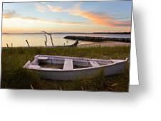 Yorktown Beach Sunset Greeting Card