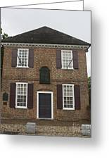 Yorktown Customs House Greeting Card by Teresa Mucha