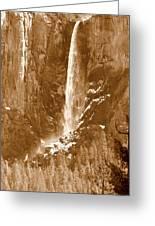 Yosemite Bridalveil Falls Greeting Card