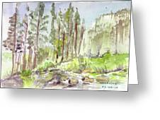 Yosemite Camp Greeting Card