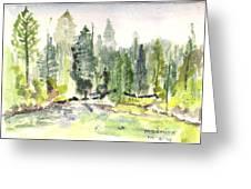 Yosemite Greeting Card by David  Hawkins