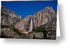 Yosemite Falls Moonbow Greeting Card