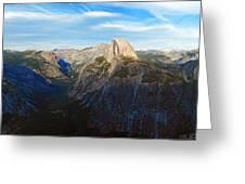 Yosemite Glacier Point Panorama Greeting Card
