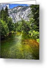 Yosemite Merced River Rafting Greeting Card