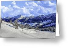 Yosemite National Park Winter Greeting Card
