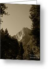 Yosemite Park Sepia Greeting Card