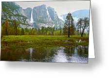 Yosemite Rain Greeting Card