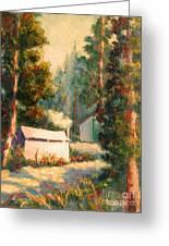 Yosemite Tent Cabins Greeting Card