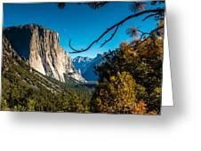 Yosemite Tunnel View Greeting Card
