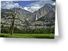 Yosemite Upper And Lower Falls Greeting Card
