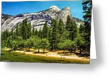 Yosemite Valley Along Yosemite River Beach Greeting Card