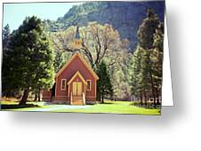 Yosemite Valley Chapel Lomo Greeting Card