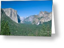 Yosemite Valley Greeting Card by David Davis