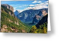 Yosemite Valley Overlook Greeting Card