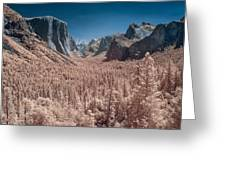 Yosemite Vally In Infrared Greeting Card