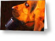 You Ain't Nothing But A Hound Dog - Dark - Painterly Greeting Card