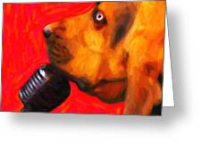 You Ain't Nothing But A Hound Dog - Red - Painterly Greeting Card