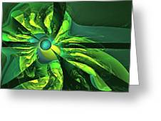 You Are Here --  Events Conspire -- Green Greeting Card